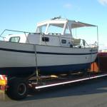 barca a motore trasporto